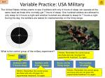 variable practice usa military1