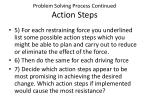 problem solving process continued action steps