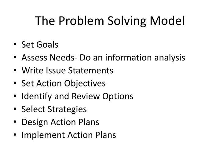 explain the different approaches to the study of problem solving [problem solving guide-home] the problem solving process can be divided in different ways and the stages have been given various labels this has been done to make it easier to understand but how it is divided and the labels that are used are not important.