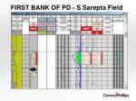 first bank of pd s sarepta field