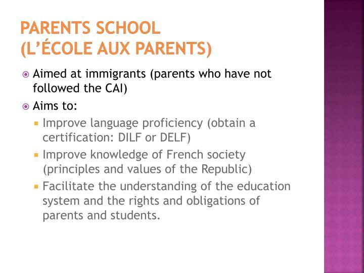 Parents School