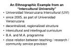an ethnographic example from an intercultural university