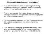 ethnographic meta research intersaberes