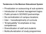 tendencies in the mexican educational system