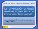 rapports de surveillance tecnologique sur mesure