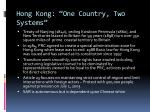 hong kong one country two systems