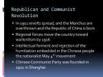 republican and communist revolution