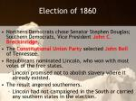 election of 1860