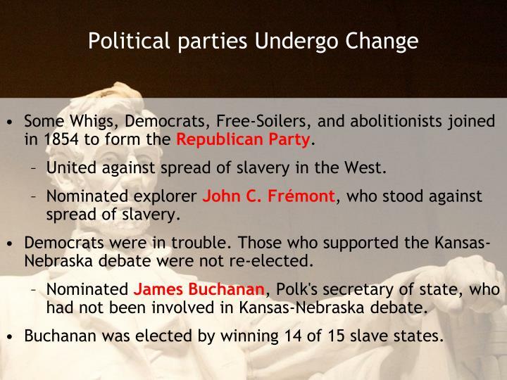 Political parties undergo change