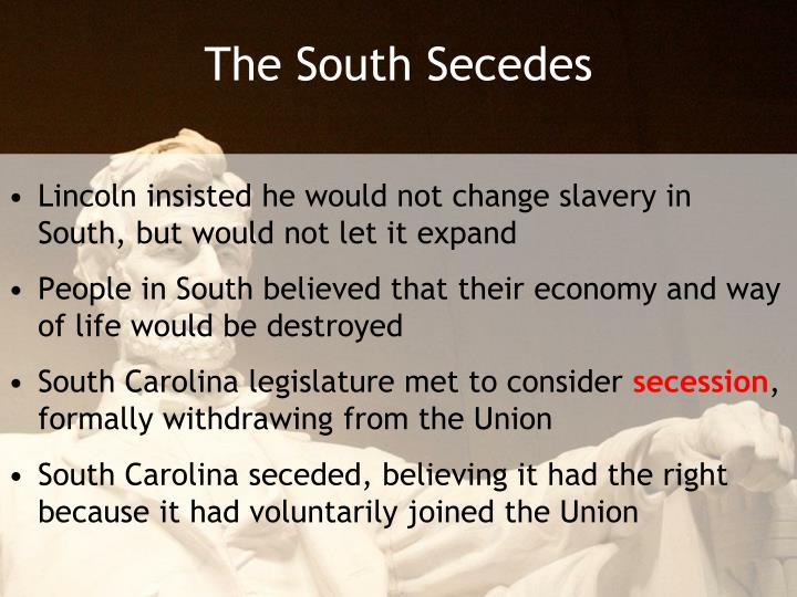 The South Secedes