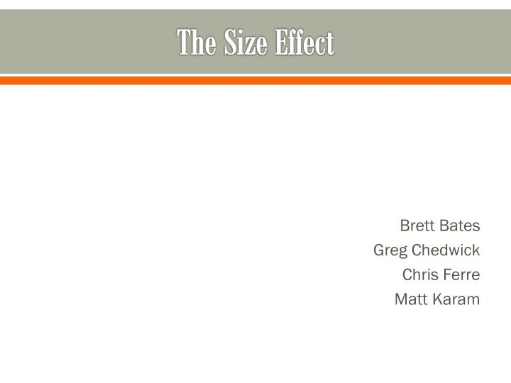 the size effect n.