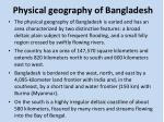 physical geography of bangladesh