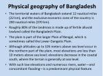 physical geography of bangladesh1