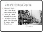 elite and religious groups