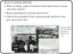 sun s popularity