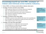 knowledge build up and ipr example of indian and chinese wind turbine industry