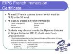 eips french immersion certificate