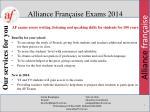 alliance fran aise exams 2014