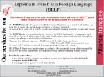 diploma in french as a foreign language delf