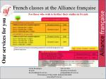 french classes at the alliance fran aise