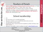 teachers of french