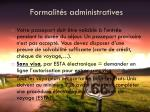 formalit s administratives