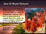 jour 5 bryce canyon