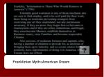 franklinian myth american dream
