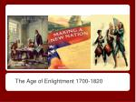 the age of enlightment 1700 1820