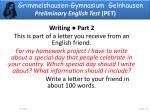 grimmelshausen gymnasium gelnhausen preliminary english test pet3