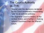 the court s authority p 7142