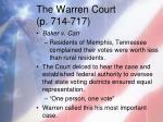 the warren court p 714 7172