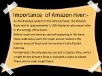 importance of amazon river