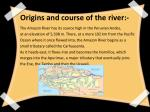 origins and course of the river