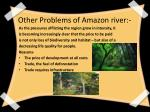 other problems of amazon river