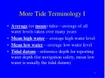 more tide terminology i