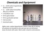 chemicals and equipment