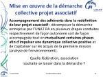 mise en uvre de la d marche collective projet associatif