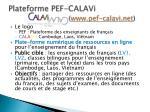 plateforme pef calavi www pef calavi net