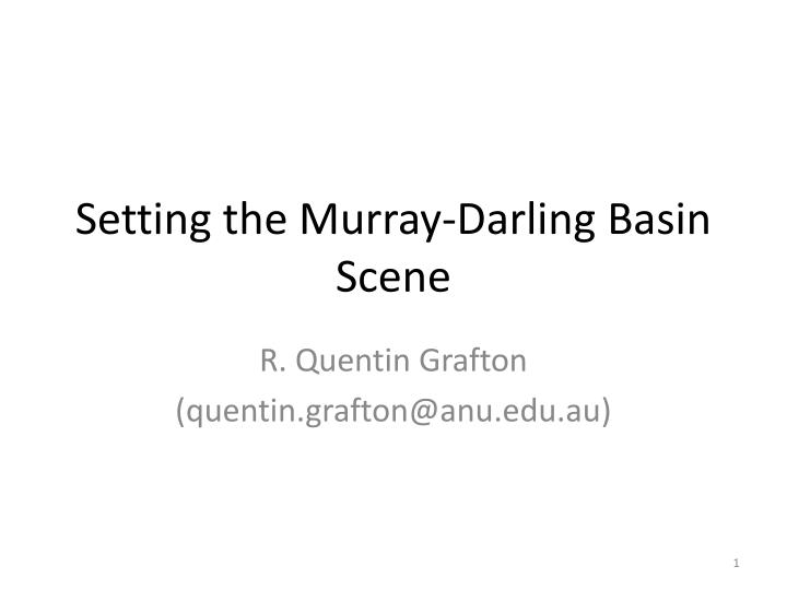 setting the murray darling basin scene n.