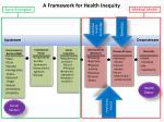 a framework for health inequity