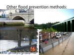 other flood prevention methods