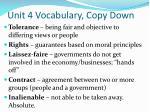 unit 4 vocabulary copy down1