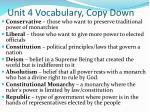unit 4 vocabulary copy down2