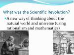 what was the scientific revolution