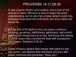 proverbs 14 17 29 30
