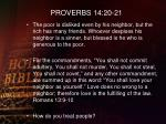 proverbs 14 20 21