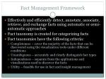 fact management framework