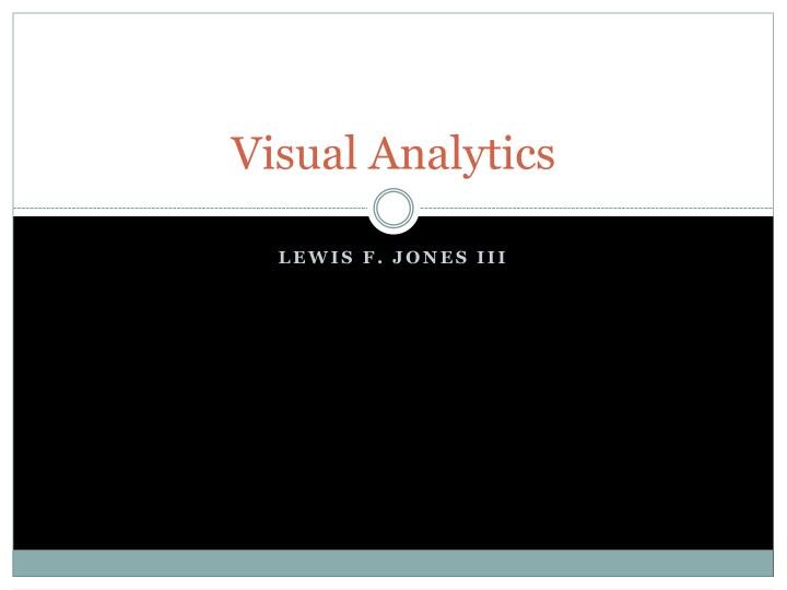 visual analytics n.