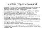 headline response to report2